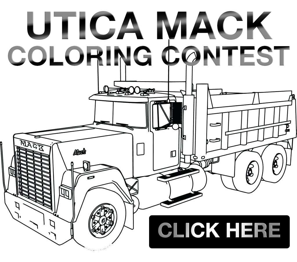 Utica Mack Coloring Contest - Click Here